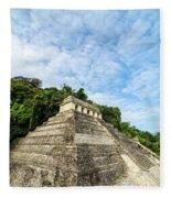 Temple Of Inscriptions Vertical Fleece Blanket
