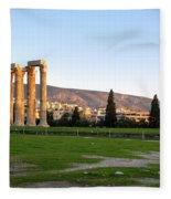 Temple Of Olympian Zeus. Athens Fleece Blanket