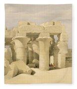 Temple Of Sobek And Haroeris At Kom Ombo Fleece Blanket