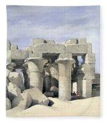 Temple On Nile Fleece Blanket