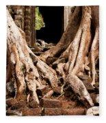 Temple Ruins 02 Fleece Blanket