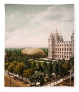 Temple Square Salt Lake City 1899 Fleece Blanket