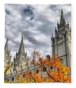 Temple Trees Fleece Blanket