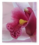Temptation - Pink Cymbidium Orchid Fleece Blanket