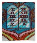 Ten Commandments Glass Fleece Blanket