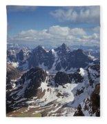 T-703502-ten Peaks From Summit Of Mt. Lefroy Fleece Blanket