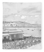 Tenby Old Lifeboat Station Fleece Blanket