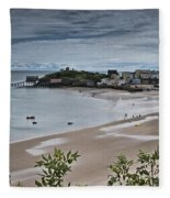 Tenby Panorama 3 Fleece Blanket
