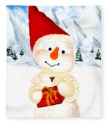 Tender Snowman Fleece Blanket
