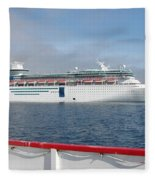 Tendered Ship Fleece Blanket