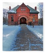 Tenney Memorial Library Newbury Vermont Fleece Blanket