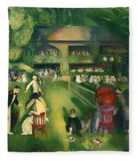Tennis At Newport 1920 Fleece Blanket