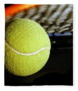Tennis Equipment Fleece Blanket