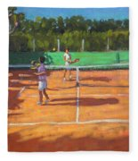 Tennis Practice Fleece Blanket
