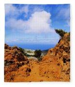 Teno Mountains Fleece Blanket