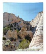Tent Rocks 8 Fleece Blanket