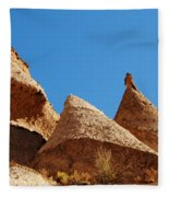 Tent Rocks Geology Fleece Blanket