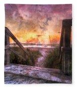 Tequilla Sunrise Fleece Blanket