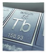 Terbium Chemical Element Fleece Blanket