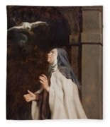 Teresa Of Avilas Vision Of A Dove Fleece Blanket