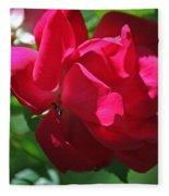 Teresas Fuchsia Rose IIi Fleece Blanket