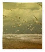 Terns In The Clouds Fleece Blanket