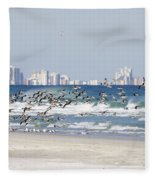 Terns On The Move Fleece Blanket