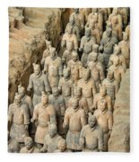Terra Cotta Warriors Fleece Blanket