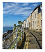 Terraced Cottages At Mousehole Fleece Blanket