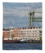 Terraced Houses And Koninginnebrug In Rotterdam Fleece Blanket
