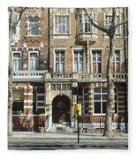 Terraced Houses In Kensington Fleece Blanket