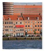 Terraced Houses In Rotterdam City Centre Fleece Blanket