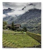 Terraced Vineyard Fleece Blanket