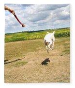 Terrier Levitation Fleece Blanket