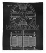 Tesla Coil Patent Art Fleece Blanket