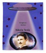 Tesla The Gorgeous Genius Fleece Blanket