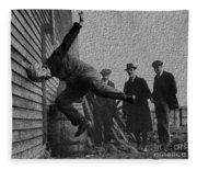 Testing Football Helmets In 1912 Ouchhhhh Fleece Blanket
