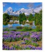 Teton Spring Lupines Fleece Blanket