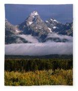 1m9396-tetons Above Fog, Wy Fleece Blanket