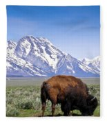 Tetons Buffalo Range Fleece Blanket