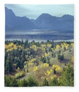 1m9209-tetons From Signal Mountain, Wy Fleece Blanket