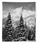 Tetons In Snow Fleece Blanket