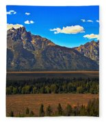 Tetons Mountians Fleece Blanket