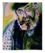 Tevye Fiddler On The Roof Fleece Blanket