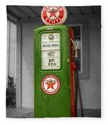 Texaco Gas Pump Fleece Blanket