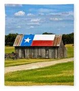 Texas Barn Flag Fleece Blanket
