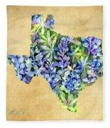 Texas Blues Texas Map Fleece Blanket