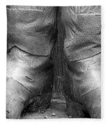 Texas Boots Portrait - Bw 01 Fleece Blanket