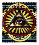 Eye Of Providence Texas Church Window Fleece Blanket