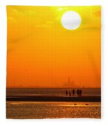 Texas City Sunset 2am-12561 Fleece Blanket